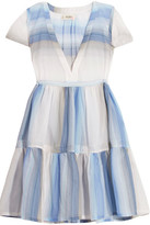 Lemlem Banu Striped Cotton-gauze Dress - Light blue