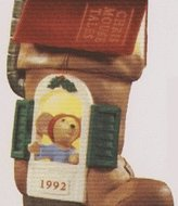 Hallmark Chris Mouse Tales Light & Motion 1992 Keepsake Ornament QLX7074