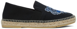 Kenzo Black Canvas Tiger Head Espadrilles