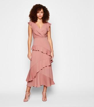 New Look Frill Wrap Midi Dress
