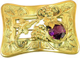 One Kings Lane Vintage Victorian Art Nouveau Amethyst Brooch