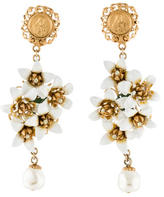 Dolce & Gabbana Madonna & Floral Chandelier Earrings