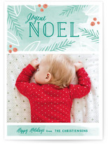 Minted Peaceful Noel Christmas Photo Cards