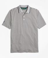 Brooks Brothers St Andrews Links Bar Stripe Golf Polo Shirt