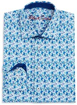 Robert Graham Boys' Floral Print Dress Shirt - Big Kid