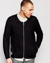 NATIVE YOUTH Lightweight Zip Through Knited Bomber