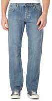 Ben Sherman Blue Light Wash Straight Fit Jeans