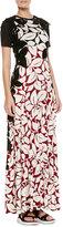 Marc Jacobs Long T-Shirt Dress with Floral Appliques