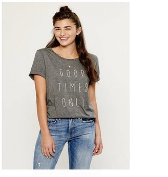 South Parade Lola Good Times Only Heather Grey T Shirt - small