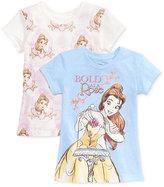 Disney Disney's® Beauty and the Beast 2-Pk. Graphic-Print T-Shirt Set, Toddler & Little Girls (2T-6X)