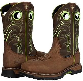 Dan Post Storms Eye Waterproof Composite Toe EH (Brown/Neon Green) Men's Boots