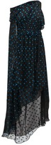 Dundas Asymmetrical Polka-dot Silk-blend Dress - Womens - Black Blue