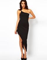 Asos Maxi Dress With Asymmetric Hem