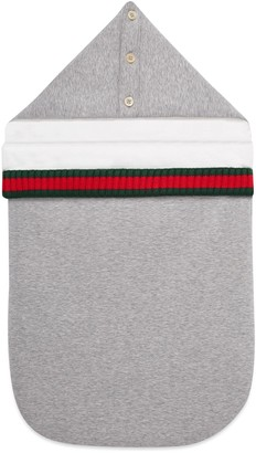 Gucci Baby jersey footmuff with Web