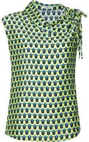 Tome 'Geometric Print Asymmetric Collared' blouse - women - Polyester/Viscose - 0