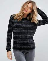 Pepe Jeans Osha Metallic Yarn In Alpaca Wool Blend Jumper