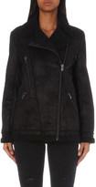 The Kooples Biker-style faux-shearling jacket