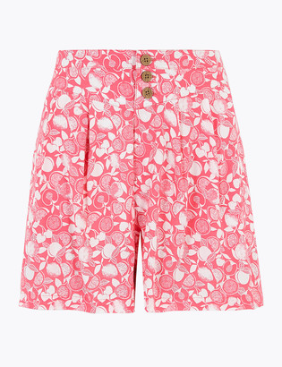 Marks and Spencer Printed High Waisted Shorts