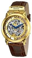 Stuhrling Original Winchester 165F.3335K31 Gold-Tone Stainless Steel & Leather 42mm Watch