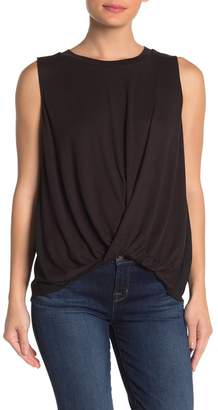 &.Layered Knotted Twist Front Tank Top