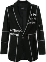 Blood Brother Penton printed blazer
