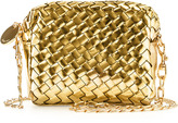 Sunset Mini Woven Crossbody Bag, Gold