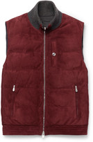 Brunello Cucinelli - Reversible Cashmere-trimmed Suede And Shell Down Gilet