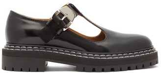 Proenza Schouler Patent-leather Mary-jane Loafers - Black