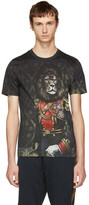 Dolce & Gabbana Green Royal Lion T-Shirt