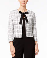 Nine West Tie-Front Tweed Jacket