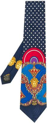 Versace Pre-Owned Medusa motif polka dot tie