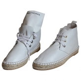 Balenciaga White Leather Trainers