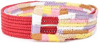 M Missoni Striped Woven Belt