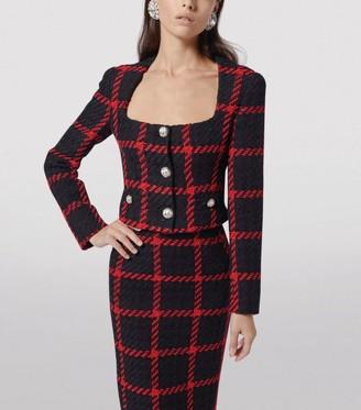 Alessandra Rich Cropped Tweed Jacket