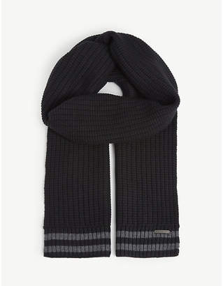 Ted Baker Cotton and wool knitted scarf