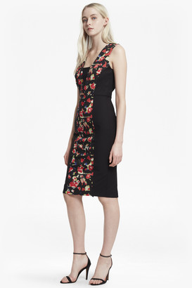 French Connection Bella Ottoman Floral Panelled Dress