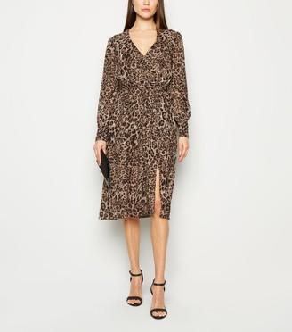 New Look Influence Chiffon Leopard Print Dress