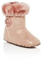 MICHAEL Michael Kors Infant Girls' Faux Fur Trimmed Metallic Boots - Baby