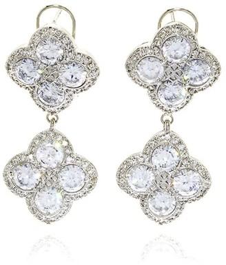 Georgina Jewelry Silver Chandelier Diamond Flower Earring
