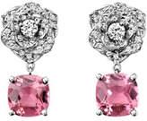 Piaget Diamond Rose & Pink Tourmaline Drop Earrings