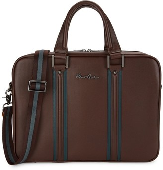 Robert Graham Dresden I Striped Leather Briefcase