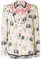 Coach embroidered blouse - women - Silk/Cotton/Nylon - 2