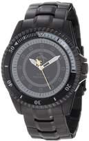 Original Penguin Men's Quartz Watch with Multicolour Dial Analogue Display and Black Stainless Steel Bracelet OP3022BK