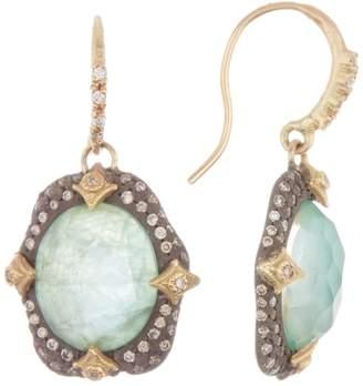 Armenta Emerald 18k Yellow Gold Pave Diamond Drop Earrings - 0.50 ctw