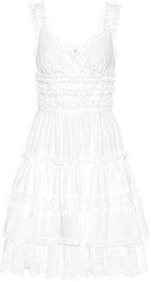 Dolce & Gabbana Lace-trimmed cotton minidress