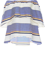Tanya Taylor Textured Sunset Stripe Ione Top