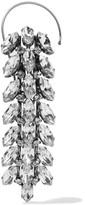 Balenciaga Silver-tone Crystal Ear Cuff - one size