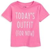 Kid Dangerous Infant Girl's Today's Outfit Graphic Tee