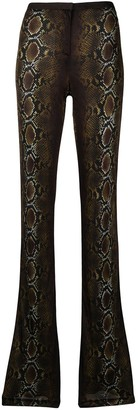 Versace Snakeskin-Print Trousers