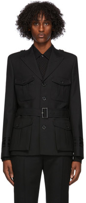 Saint Laurent Black Wool Military Blazer